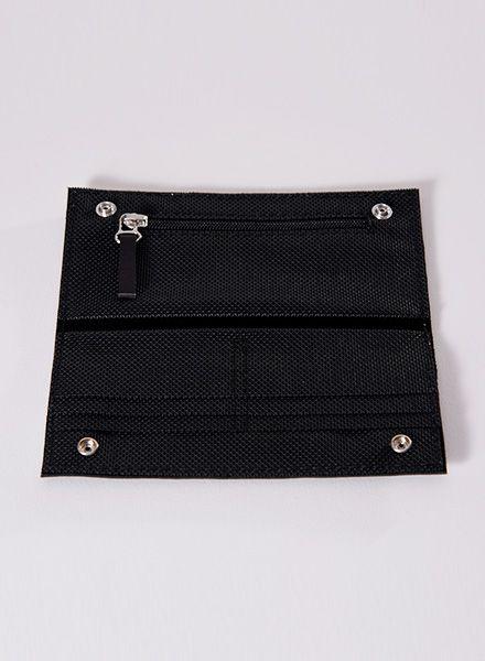 Hänska Geldbeutel aus Leder und Netzgewebe in zwei Farben