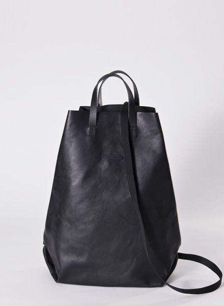 """Hänska Backpack """"Leather black"""""""