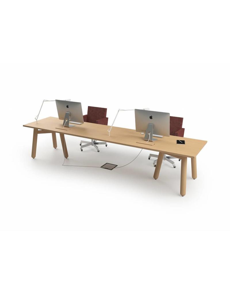 DUM DUM Beech connect71 design vergadertafel