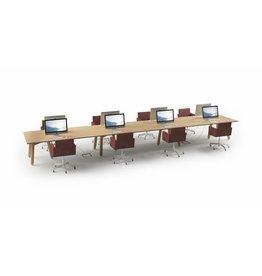 DUM DUM Beech connect modulaire vergadertafel