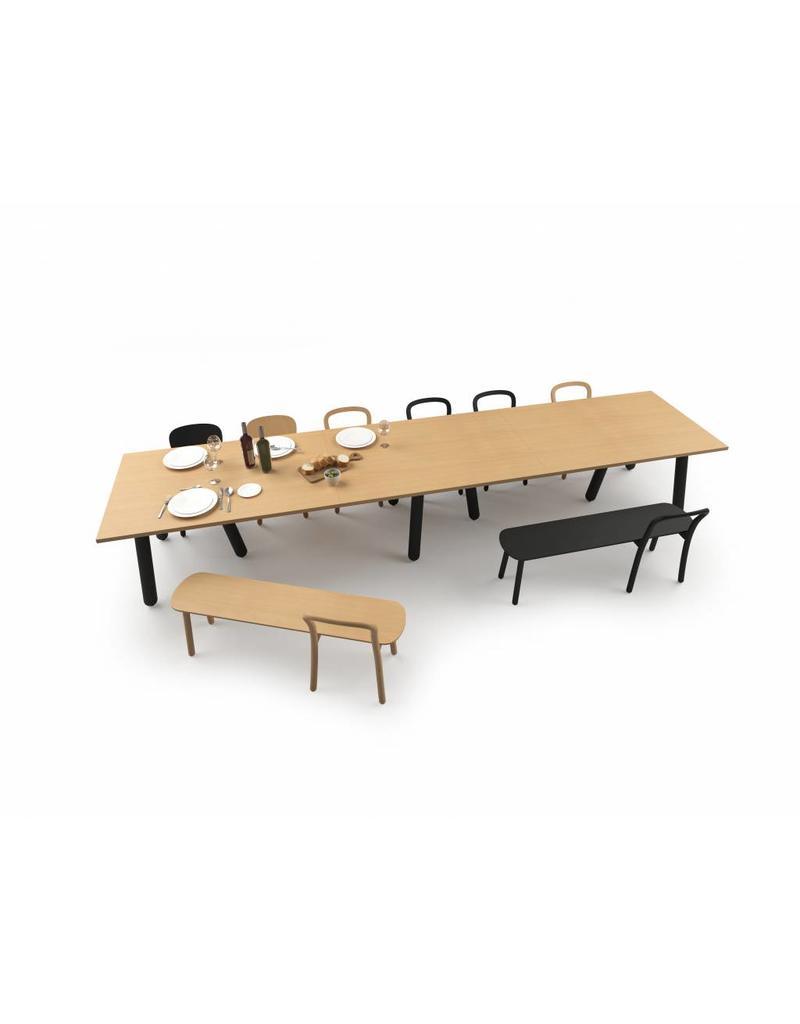 DUM DUM Beech connect71 design modulaire vergadertafel