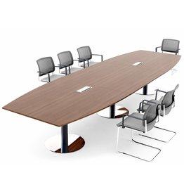 MDD MDD vergadertafel met ronde poten