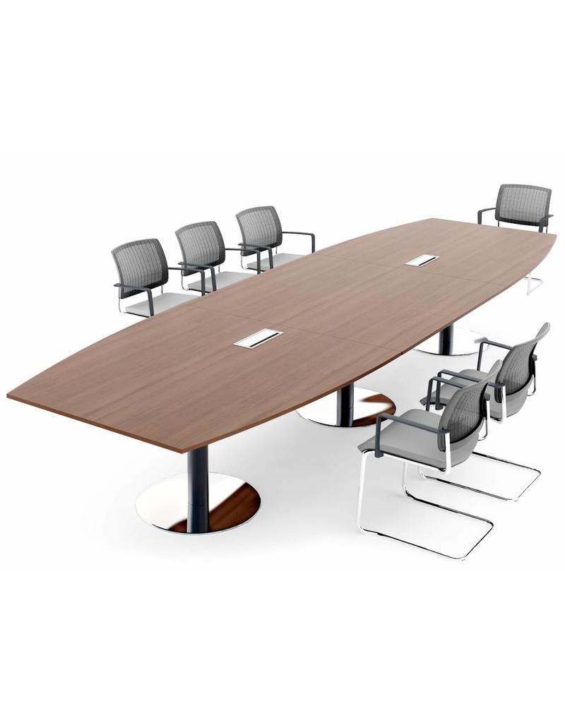 MDD MDD modulaire vergadertafel met ronde poten