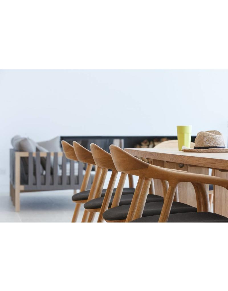 Artisan Artisan Neva houten design eetkamer / restaurantstoel met kussen
