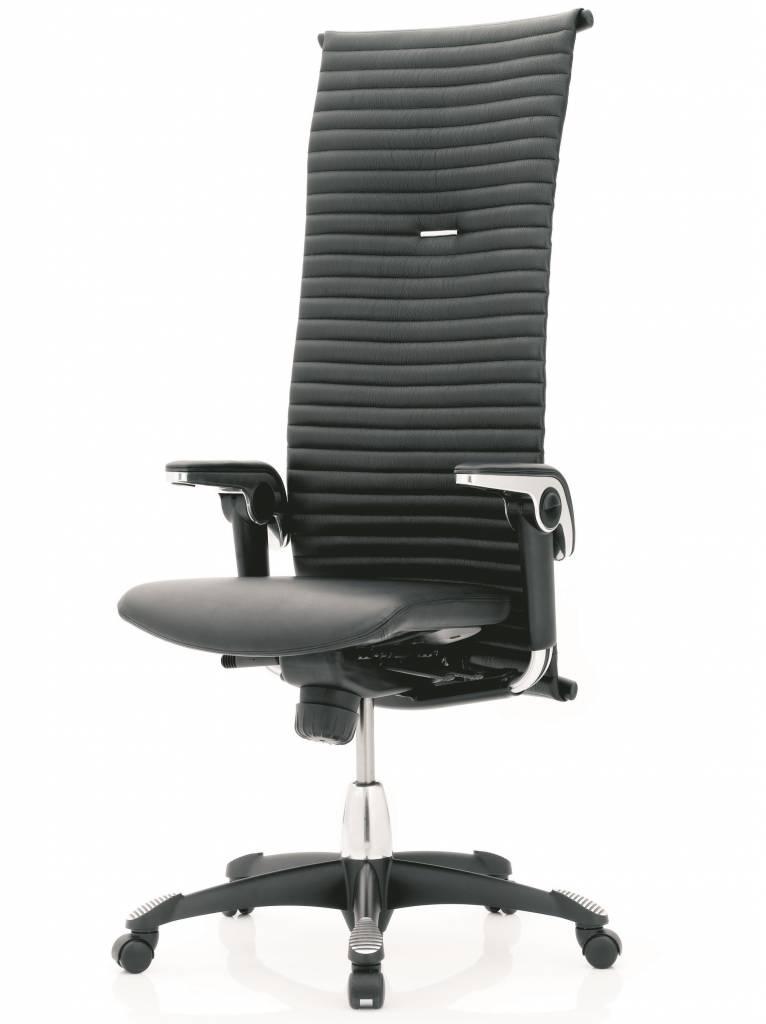 Bureaustoel Hoge Rugleuning.Hag Excellence 9331 Lederen Bureaustoel