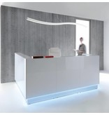 MDD MDD Linea modulaire receptiebalie met vloer LED verlichting
