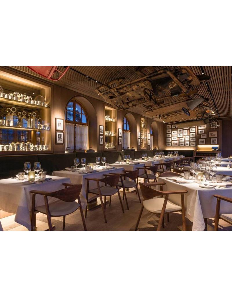 Artisan Artisan Naru houten design eetkamer / restaurantstoel met kussen