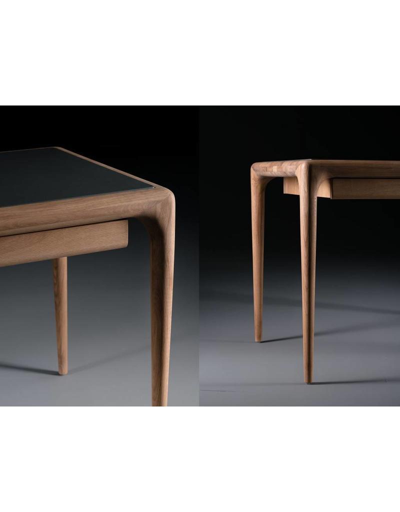 Artisan Artisan Latus houten bureau met leren blad