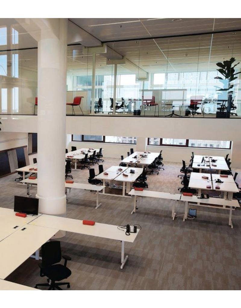 Bulo Bulo grID modulair bureaueiland met verstelbare werkhoogte