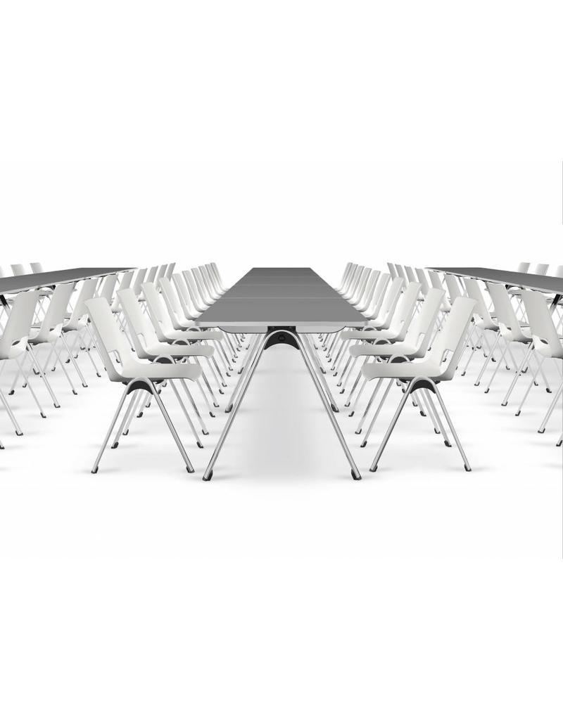 Interstuhl Interstuhl Vlegs koppelbare en stapelbare conferentiestoel