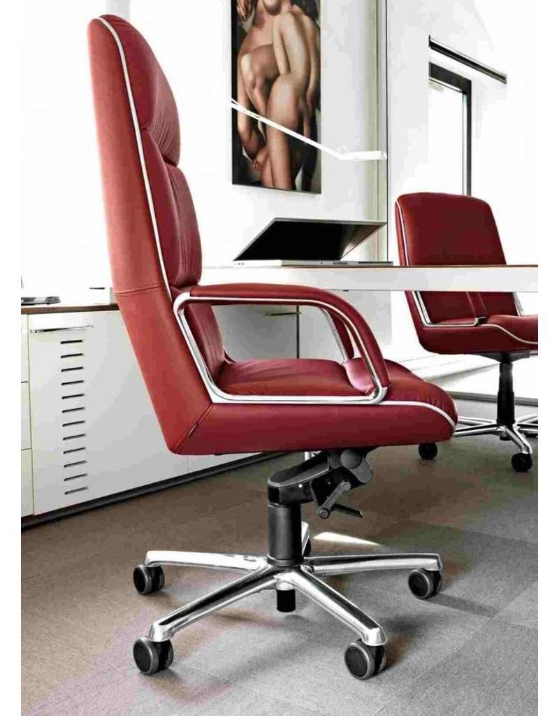 Vaghi Vaghi Kiruna leren bureaustoel met hoge rug