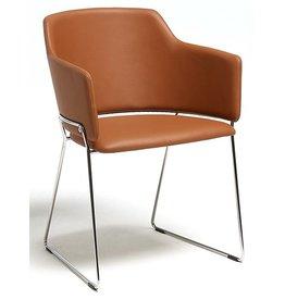David design David design Skift stoel met leren bekleding