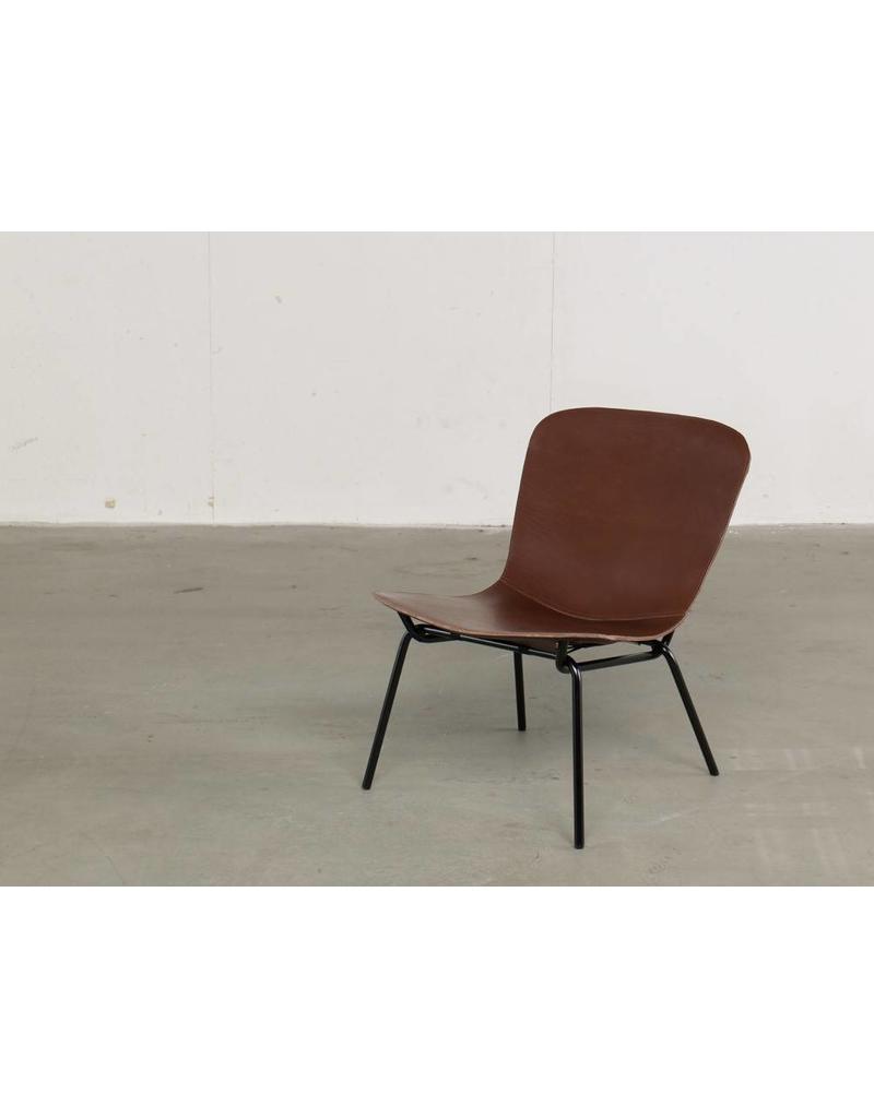 David design David design Hammock lounge stoel met leren bekleding