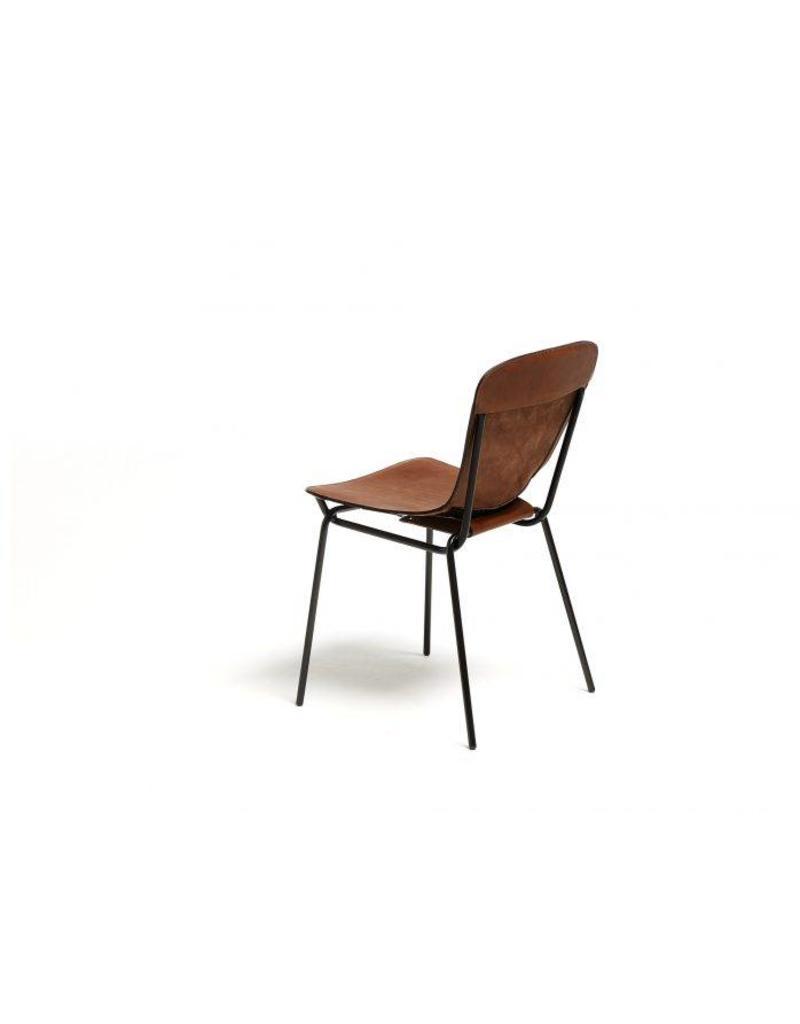 David design David design Hammock stoel met leren bekleding