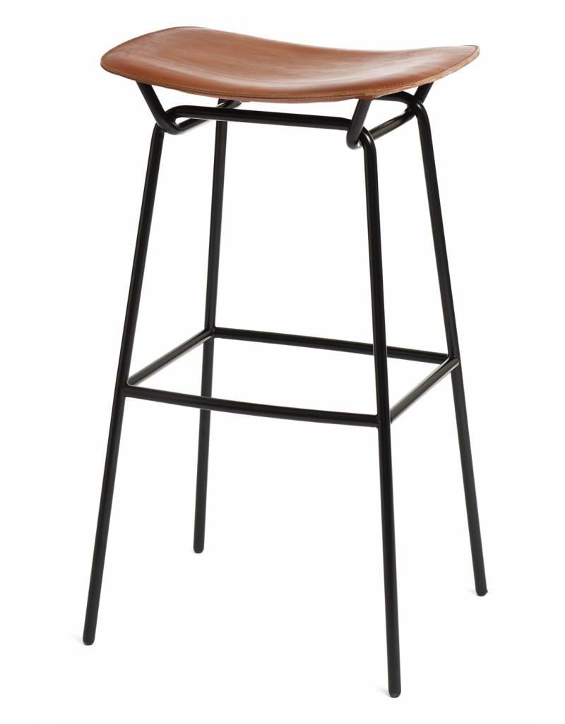 David design David design Hammock barkruk met leren bekleding