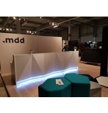MDD MDD Alpa modulaire receptiebalie met vloer LED verlichting