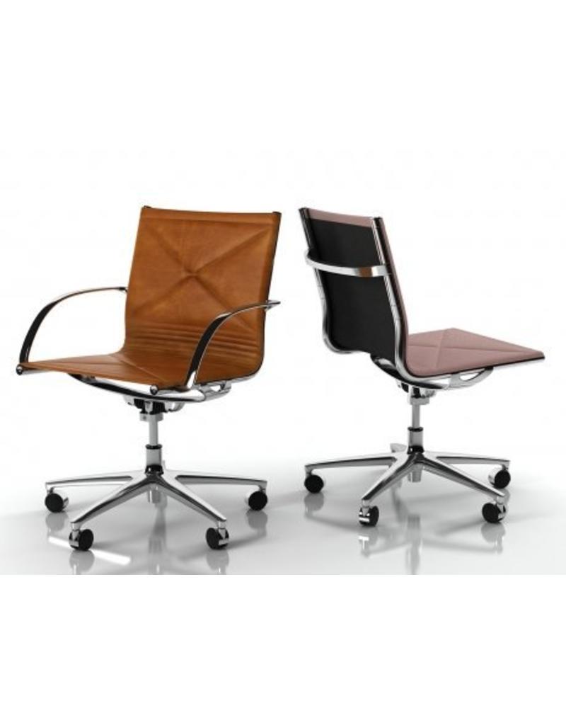 Engelbrechts Engelbrechts Joint leren bureaustoel in hoogte verstelbaar