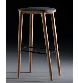 Artisan meubels Artisan Neva houten kruk met kussen