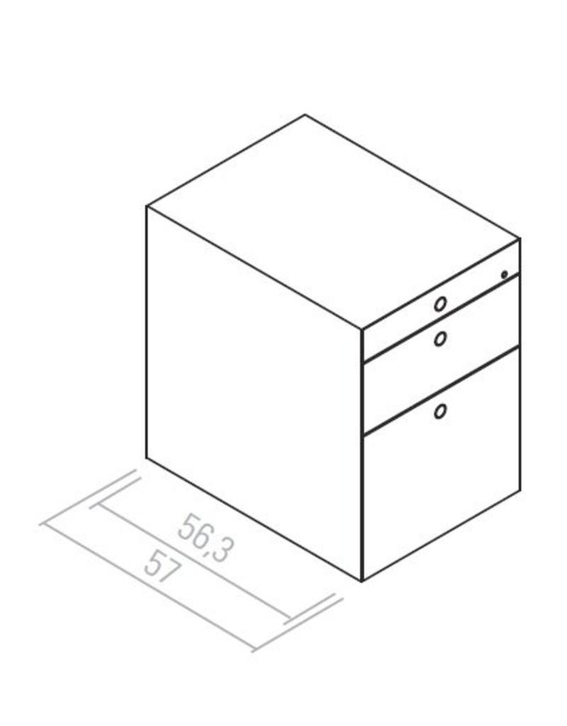 Fantoni Fantoni Quaranta5 ladeblok (hangmappen lade, lade en materiaallade)