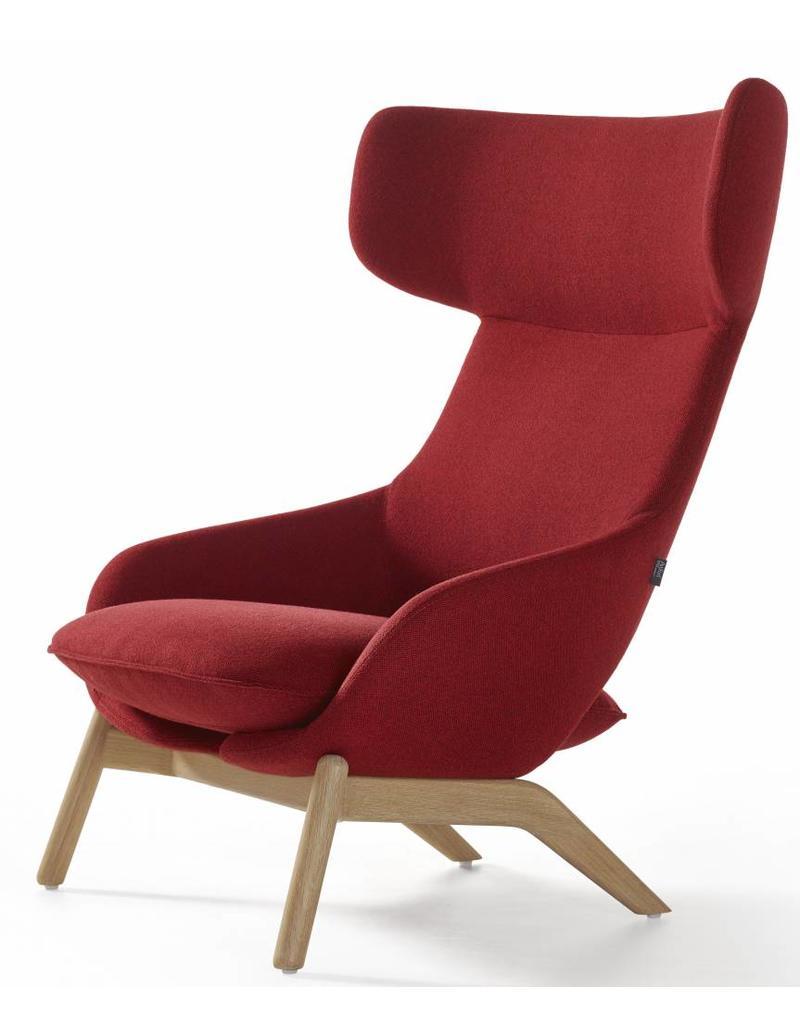 Artifort Artifort Kalm lounge fauteuil met houten frame