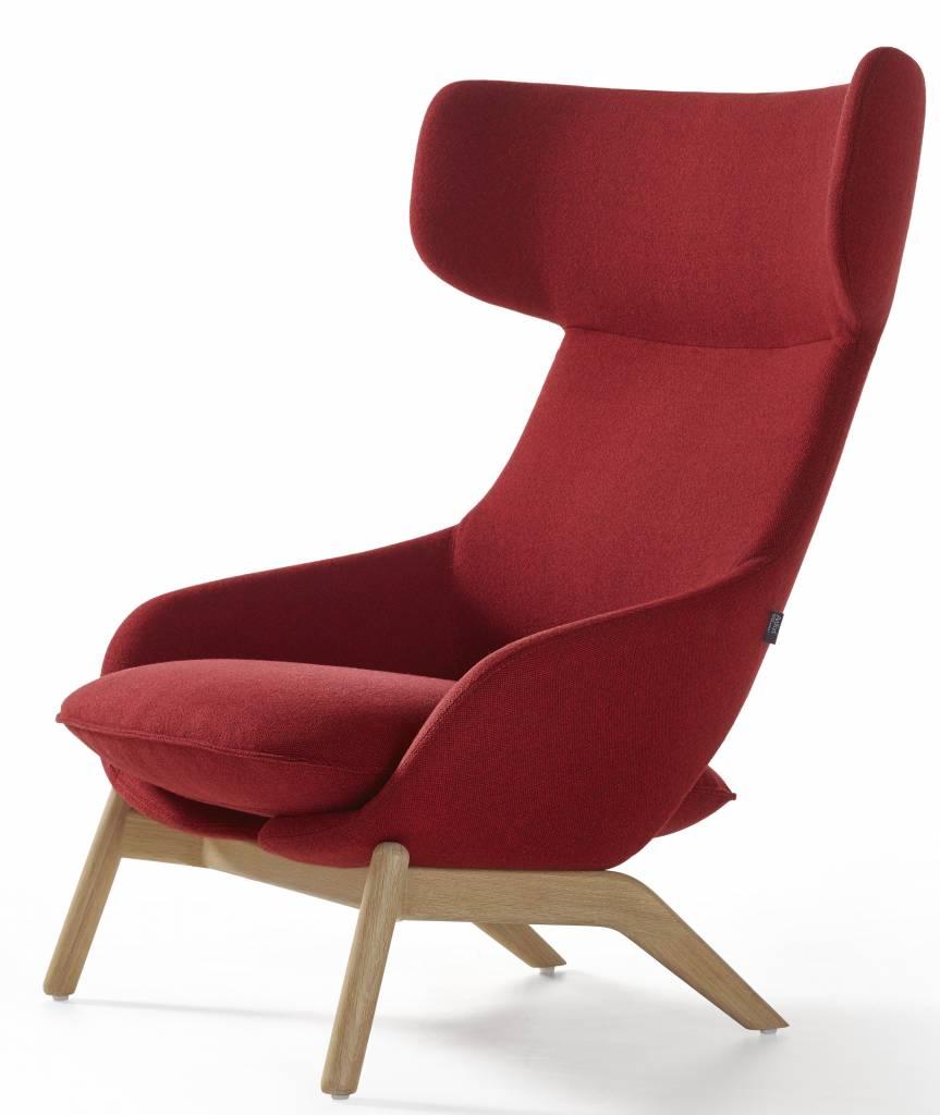 Houten Design Fauteuil.Artifort Kalm Lounge Fauteuil Design Online Meubels