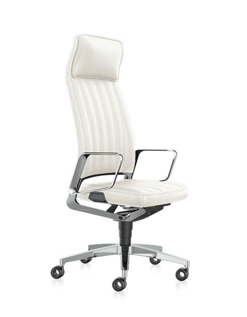 Interstuhl Interstuhl Vintage leren bureaustoel met hoofdkussen