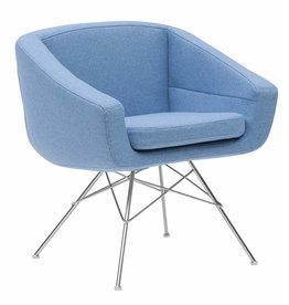 Softline Softline Aiko lounge fauteuil Zithoogte 45 cm