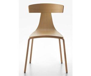 Plank remo stoel houten poten design online meubels
