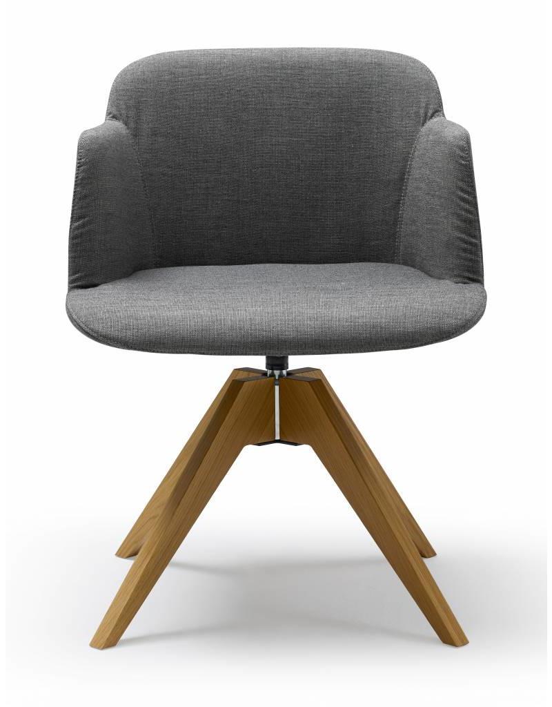 Quinti Quinti Deep stoel met houten poten