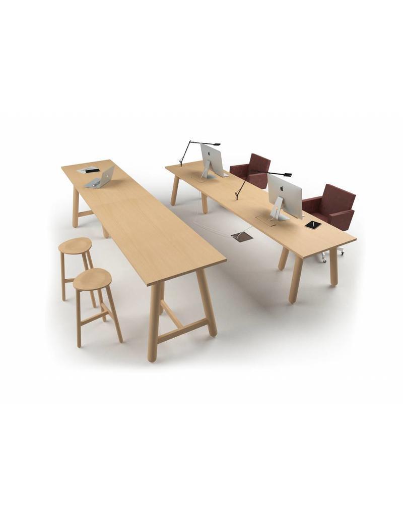 DUM DUM Beech connect100 hoge design vergadertafel