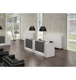 Officity Officity Z2 brede modulaire receptiebalie, 366 cm breed