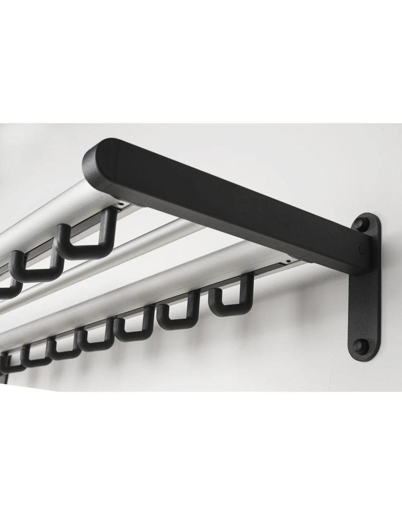 van Esch van Esch Tertio W2 aluminium wandkapstok met haken