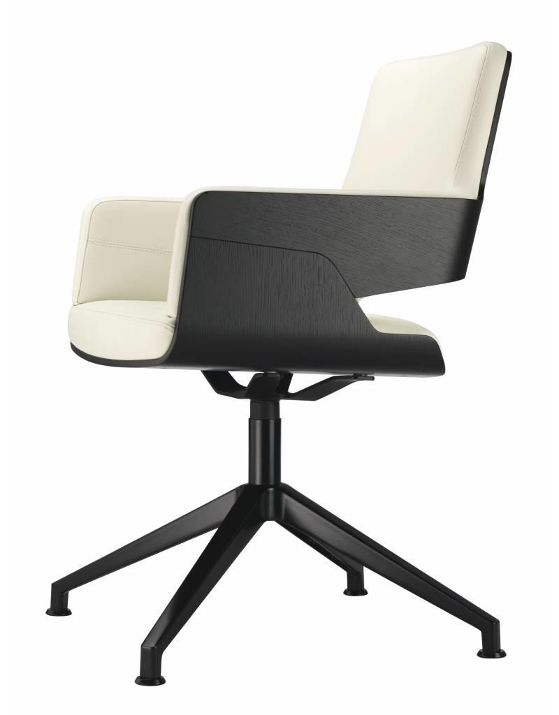 Thonet Thonet S 847 D fauteuil in leer