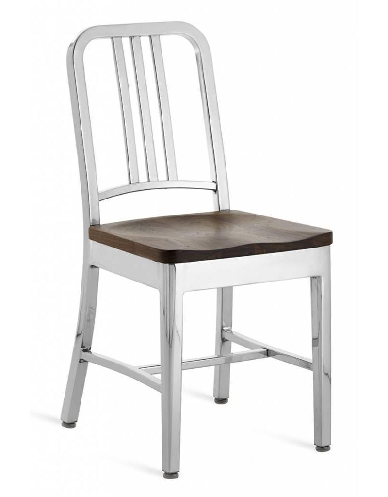 Emeco Emeco Navy chair met houten zitting