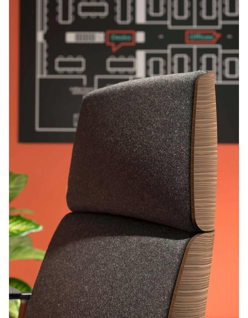 Quinti Quinti Charles bureaustoel met houten achterkant