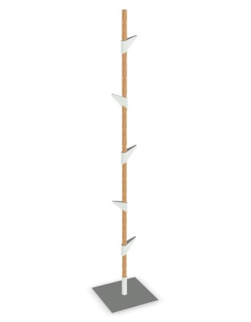 Cascando Cascando Bamboo 1 staande kapstok, hoogte 178 cm, 5 jashaken