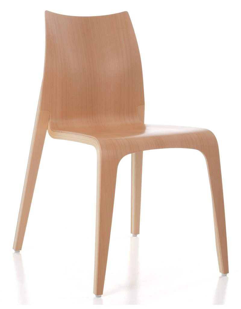 Plycollection Plycollection Flow stapelbare houten stoel