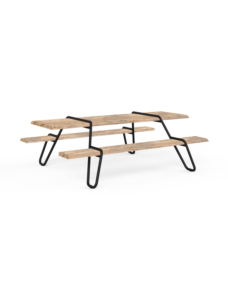 Circulair Clip-board gerecyclede picnic tafel met vaste banken