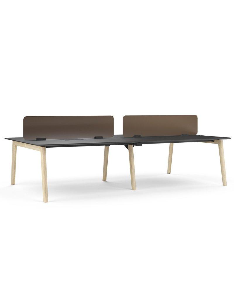 Narbutas Narbutas Nova Wood modulair bureaueiland met Fenix blad