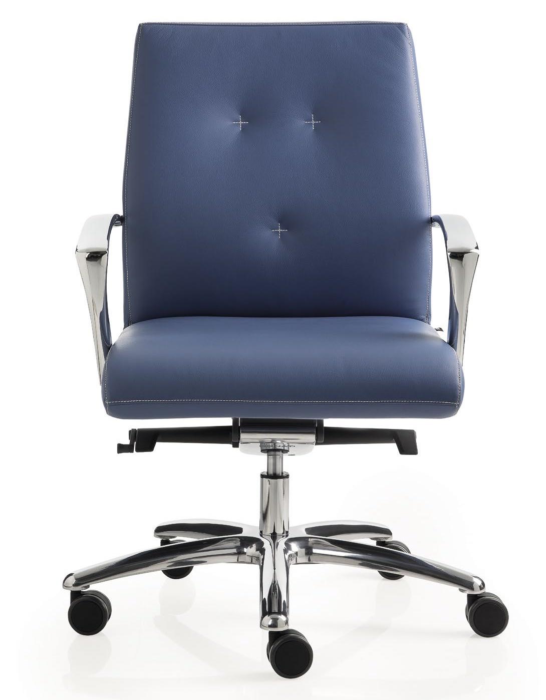 Cognac Leren Bureaustoel.Luxy One Bureaustoel Design Online Meubels