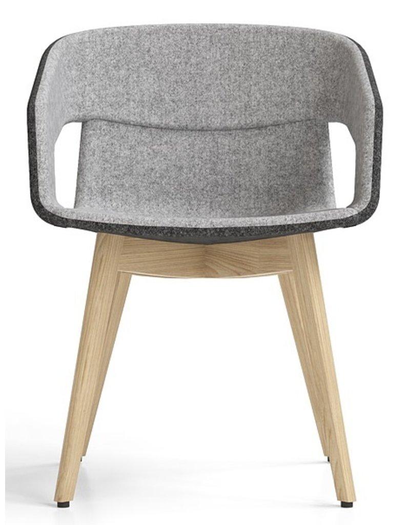 Narbutas Narbutas Tango stoel met houten poten