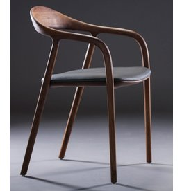 Artisan Artisan Neva houten stoel met (leren) kussen