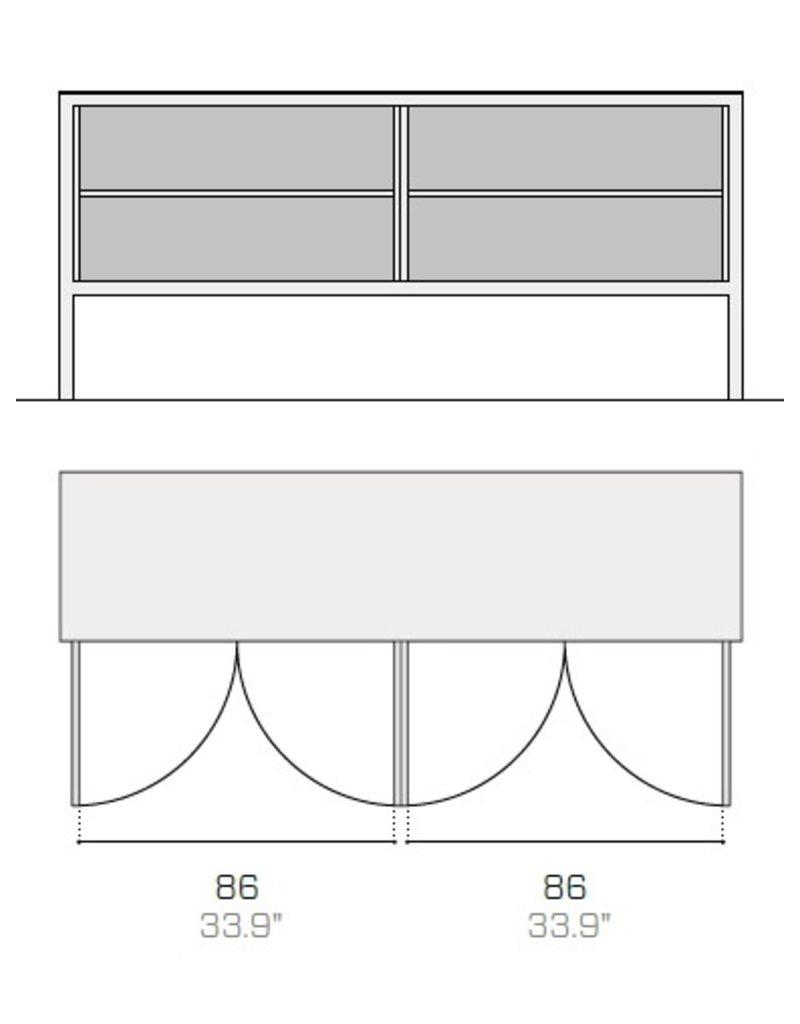 Fantin Fantin Frame metalen dressoir met 4 deuren