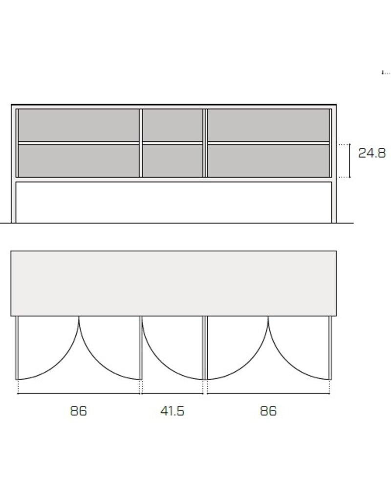 Fantin Fantin Frame metalen dressoir met 5 deuren