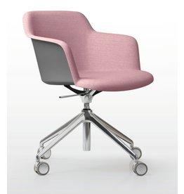 Quinti Quinti Deep Plastic stoel met wielen