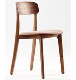 Artisan Artisan Tanka houten design eetkamer / restaurantstoel met kussen