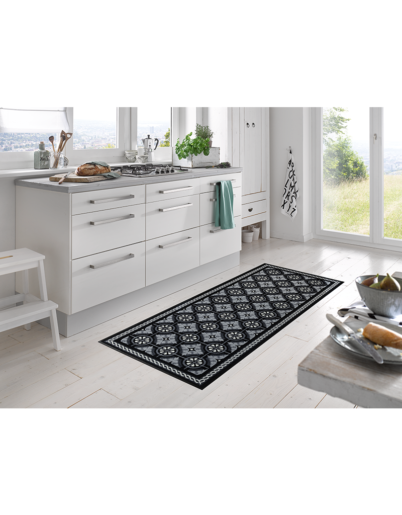 Kleen-Tex Schoonloopmat Kitchen Tiles Black