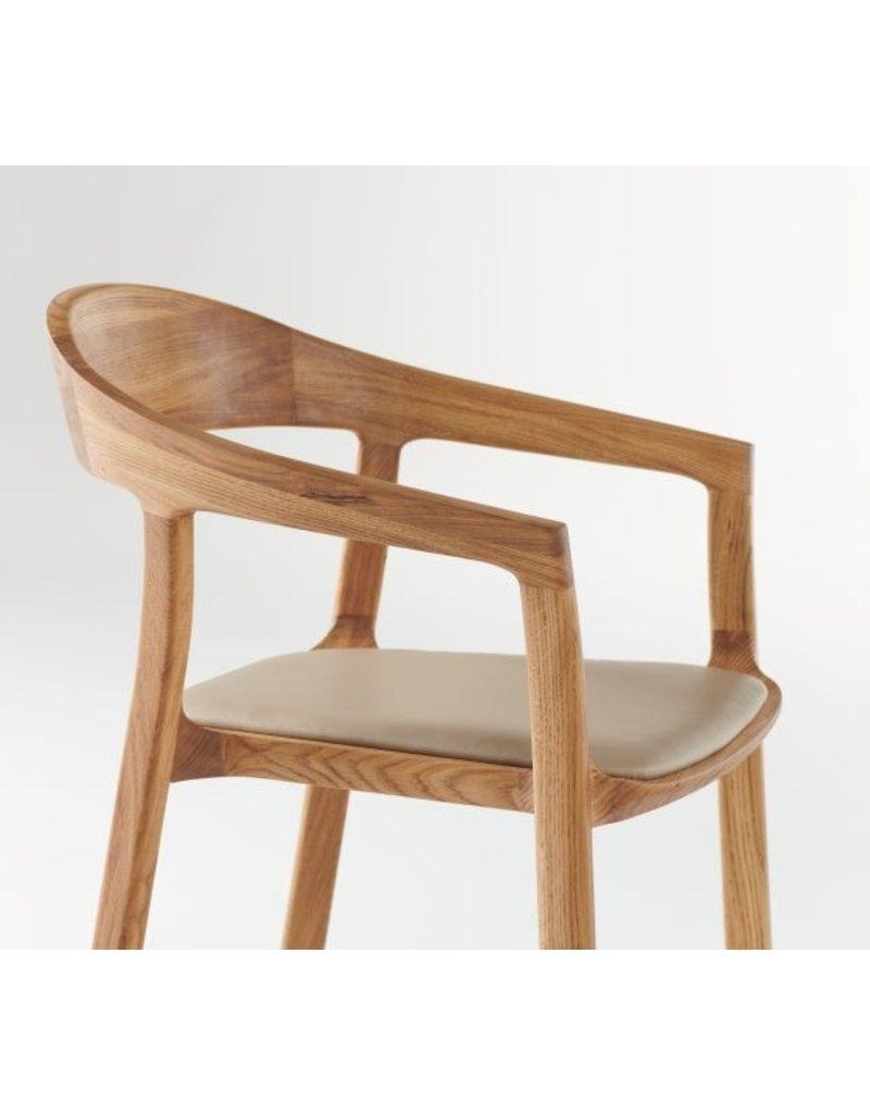 Artisan Artisan Tara houten design eetkamer / restaurantstoel met kussen