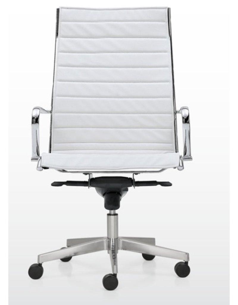 Quinti Quinti Season Slim hoge leren bureaustoel XL
