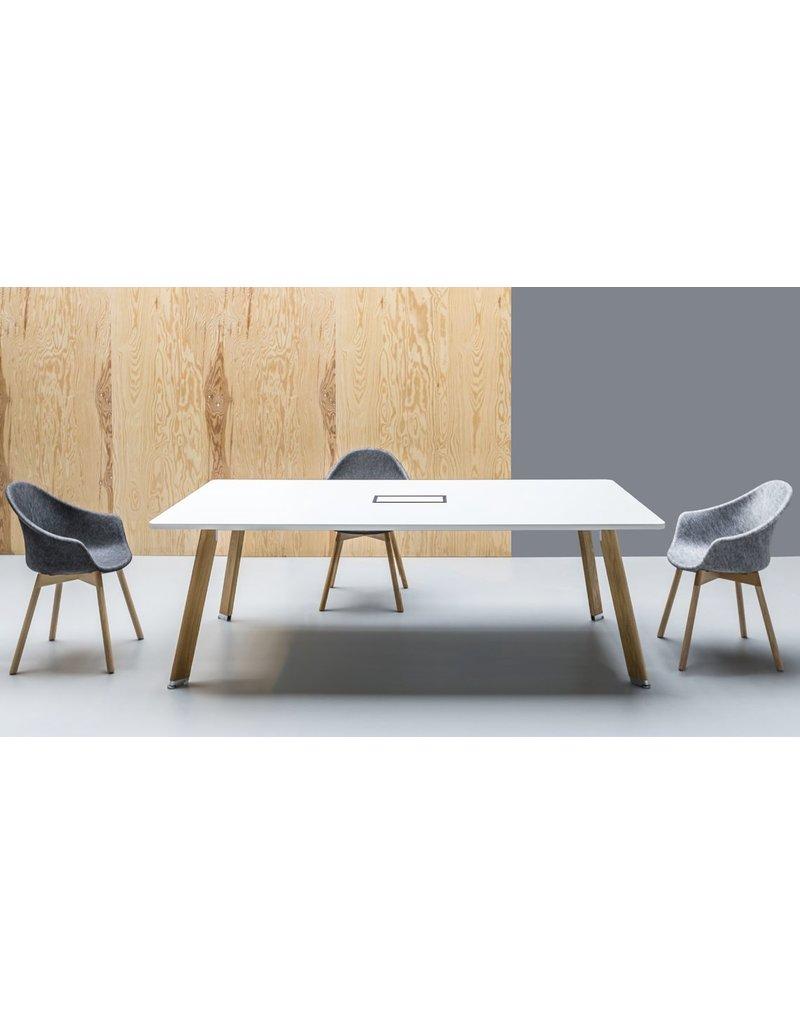 Balma Balma Simplic vergadertafel met houten poten